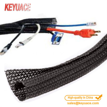 Funda de cable trenzado envolvente expandible PET